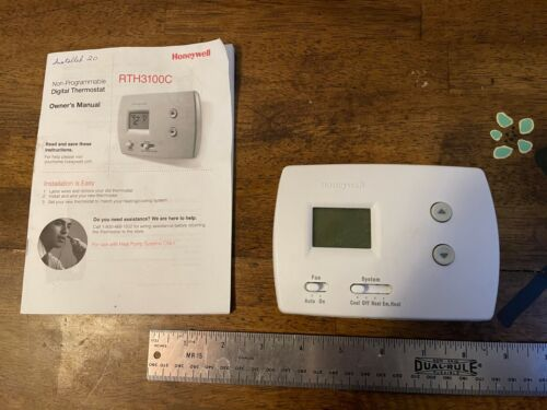 Honeywell RTH3100C Digital Non-Programmable Heat Pump Cooling Thermostat