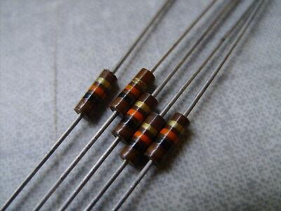 5 Count Of 14 Watt 5 Resistors Allen Bradley Carbon Composition