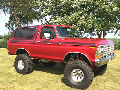 Image 13 of 1978 Ford Bronco Red…