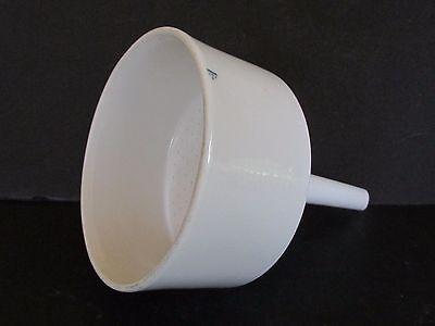 Coors Vintage 4 Porcelain White Filter Lab Glassware Strainer Funnel Usa