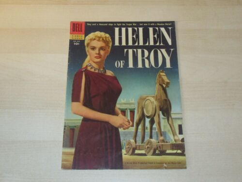 HELEN OF TROY #684 DELL FOUR COLOR MOVIE CLASSIC 1956 SILVER AGE HIGHER GRADE