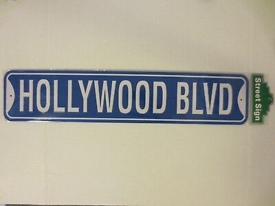 HOLLYWOOD BLVD Souvenir Replic Street Sign Metal New for sale  Harbor City