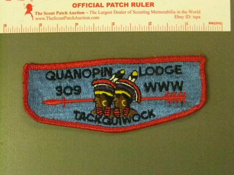 Boy Scout OA 309 Quanopin flap 7696JJ