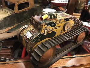 Large vintage tin tank by Marx