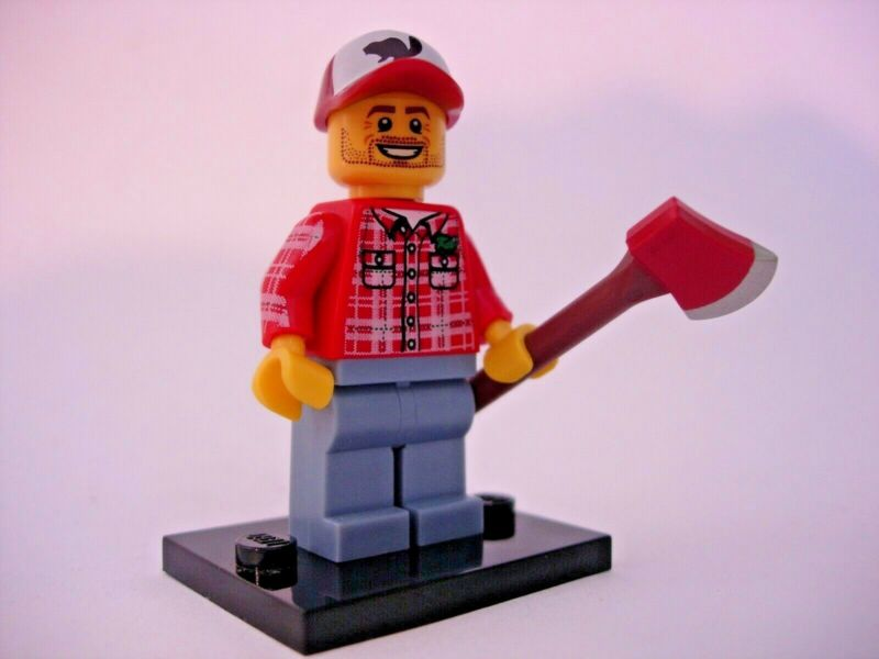 "LEGO Collectible Minifigure #8805 Series 5 /""LUMBERJACK/"" Complete"