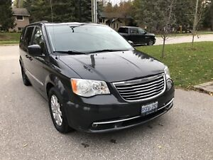 2012 Chrysler Town and Country Touring with snow tires and hitch