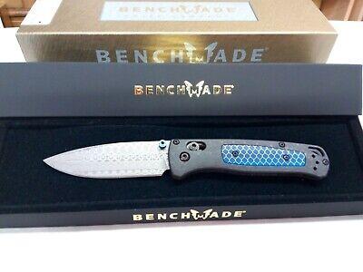 NEW Benchmade Gold Class Bugout 535-191 Damasteel blade Carbon Fiber handle