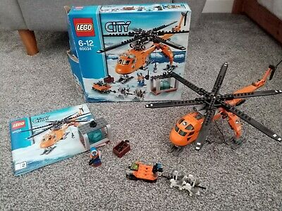 Lego City 60034 Arctic Helicrane - 100% complete with box and instructions