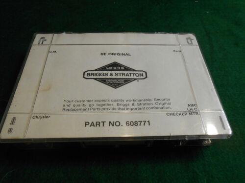 Briggs & Stratton AUTOMOBILE/Car LOCK KEY TUMBLER PARTS KIT 608771 G.M./Ford/+