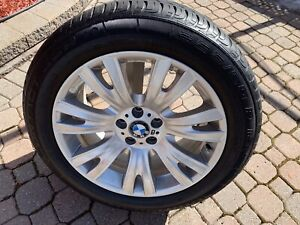 OEM BMW rims with tires