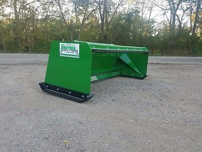 7 Low Pro Pullback John Deere Quick Attach Snow Pusher Box Free Shipping -rtr