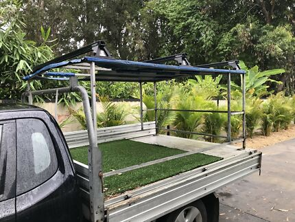 Vehicle or trailer back gray Canopy with 3 Rhino Roof Racks Budgewoi Wyong Area Preview