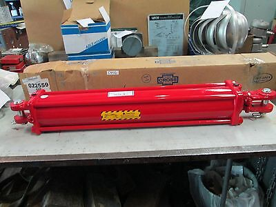 Cross Hydraulic Cylinder 4x24 4 Bore 24 Stroke Pn 022559 Db 1-12 Rod Nib