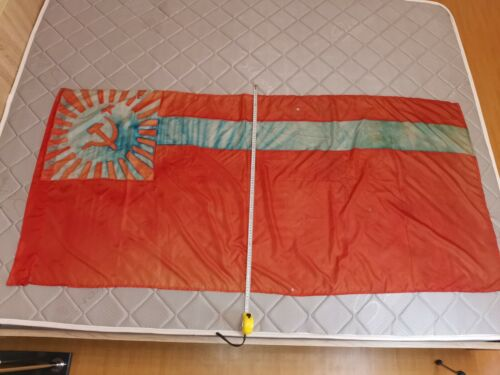 Authentic Big Flag Russia Russian Soviet Socialist Republic USSR Vintage