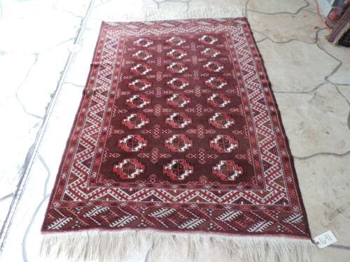 5x7ft. Handmade Turkoman Bokharra Wool Rug