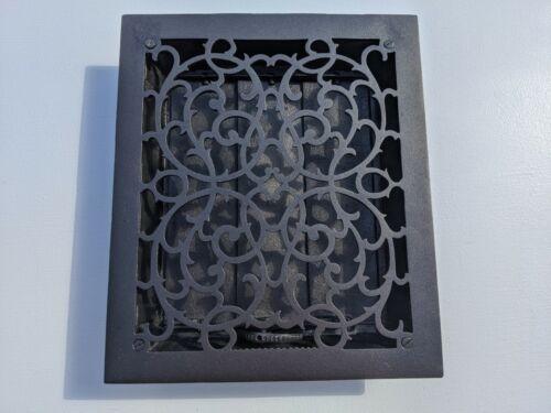 Antique Vintage Ornate Cast Iron Wall Vent Grate Register