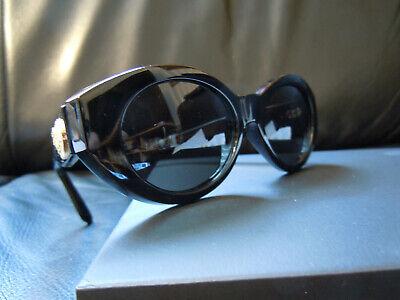 Vintage BLACK Gianni Versace Sunglasses Mod 480/H Col 852 Diamante Genuine Rare