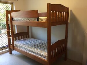 Solid wood bunk bed king single North Strathfield Canada Bay Area Preview