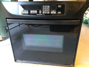 Black Kitchen Aid Electric Built-in Thermal Convection Oven
