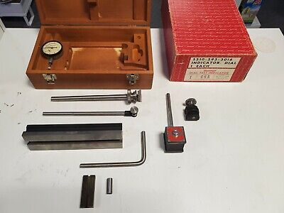 Vintage Starrett 665 Series Test Indicator Set With Wood Case And Org Bxextras