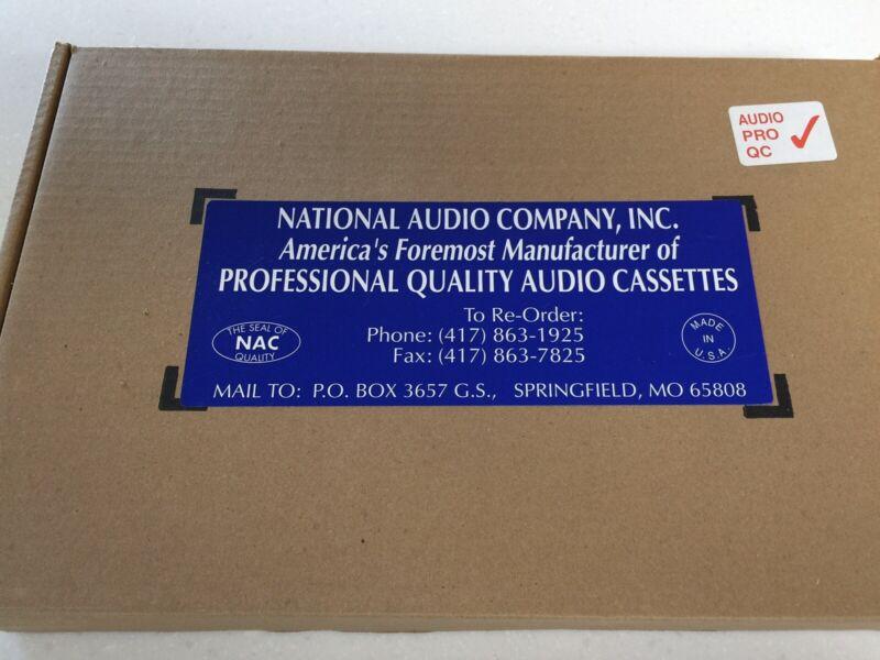 Audio cassettes (blank)....Full case
