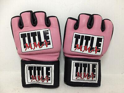 Title Mma Training - Title MMA Taekwondo Combat Women Small Pink Training Gloves UT74-G10
