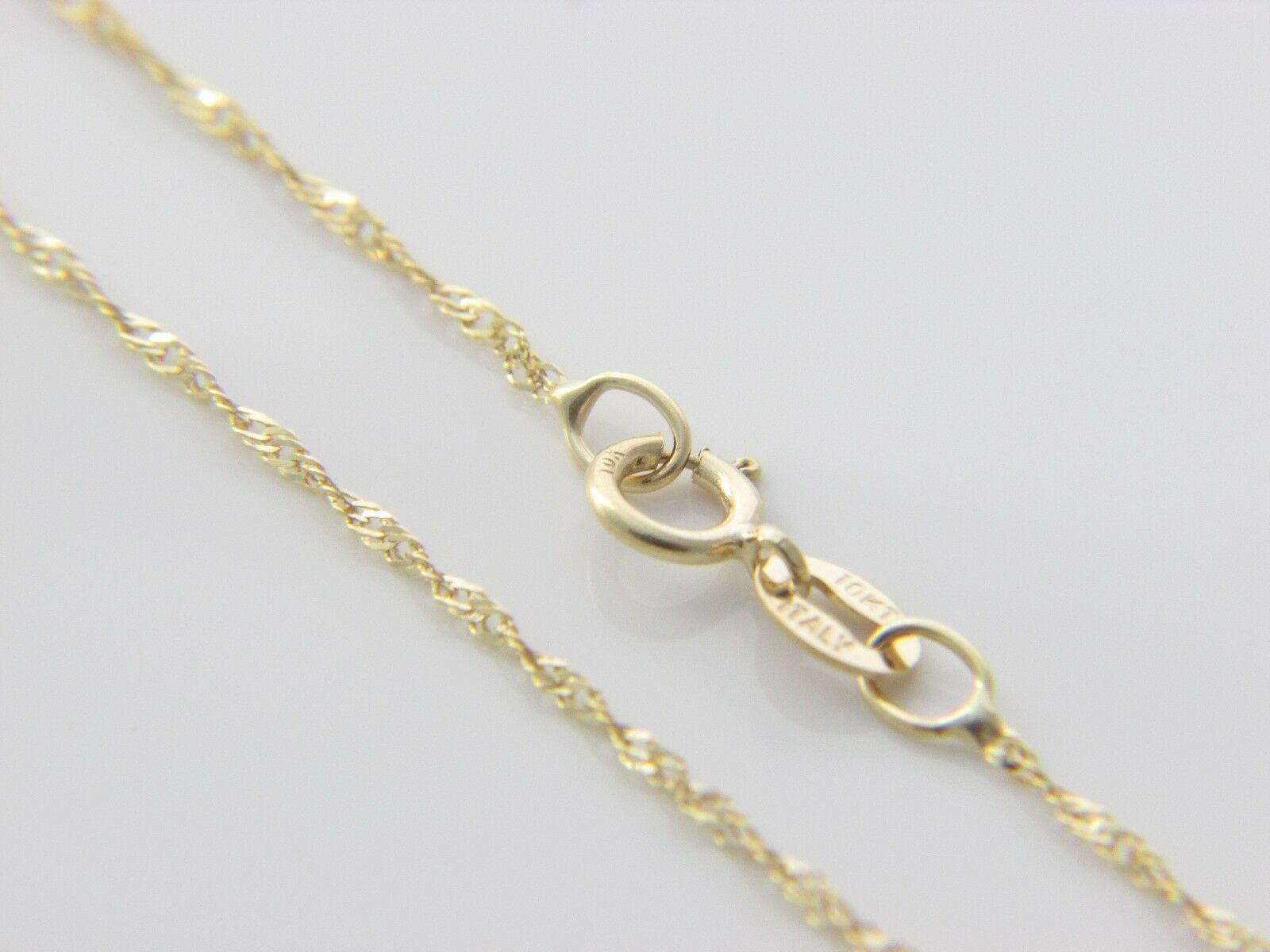 Solid 10k yellow gold Chain Necklace Box chain Rope chain Cable chain 10kt gold