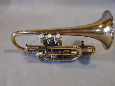 Vintage 1888 Conn Cornet SN 26945 Brass Excellent Condition Copper Bell Elkhart