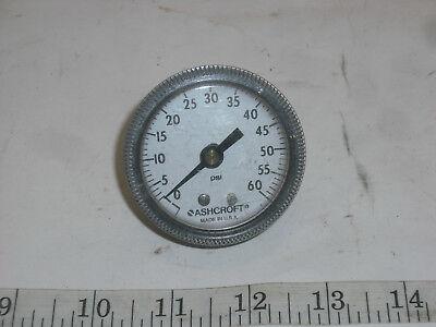 Ashcroft 2 Panel Mount Pressure Gauge 60psi