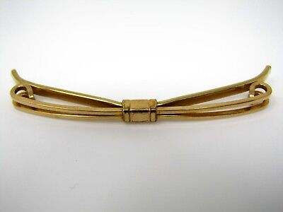 Vintage Corbata Collar Barra Clip Joyería: Impresionante Color Dorado Por