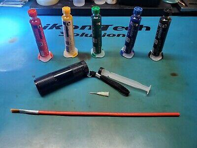 Trace Pcb Bga Uv Solder Mask Repairing 10cc W Syringe Light Brush Plunger Paint