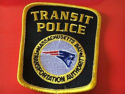 MBTA Transit Police Mass. patch New England Patriots novelty
