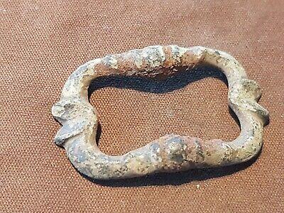 Lovely rare 16 early 17 hundreds bronze buckle. Please read description. L282