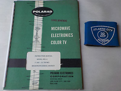 Polarad Model Ssx-a Microwave Signal Source Instruction Manual