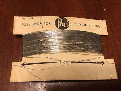Parr Fuse Wire Vintage Peroxide Calorimeter
