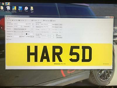 HAR 5D  HARD CHERISHED PRIVATE NUMBER PLATE DVLA REG