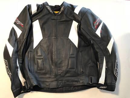 RST Black Leather Bike Jacket