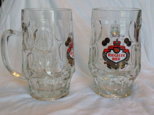 Set of 2 Riegeler Bier German Beer Mugs EUC