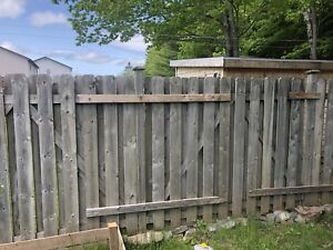88 feet of wooden fence - Sold PPU