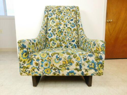 60s Mid Century Danish Modern Pearsall High Back Swoop Low Lounge Chair Slim Jim