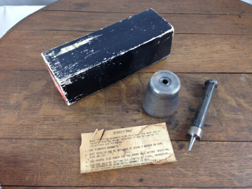 C.S. Osborne Grommet Setting Die Tool 216  Size 0  #WH-13