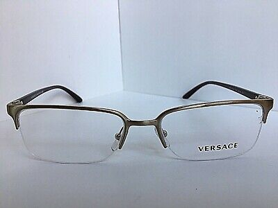New Versace Mod. 1912 3913 54mm Silver Semi-Rimless Men's Eyeglasses Italy