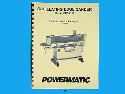 Powermatic Model Oes9138 Oscillating Edge Sander Instruct Parts Manual 270