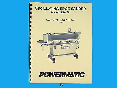 Powermatic Model Oes9138 Oscillating Edge Sander Instruct Parts Manual 270