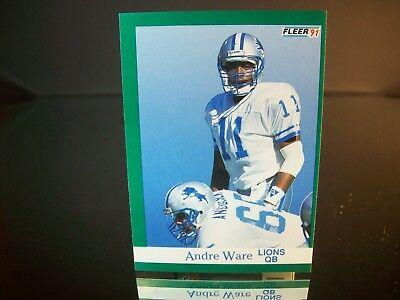 Andre Ware Fleer 1991 Card #248 Detroit Lions NFL Football 1991 Fleer Nfl Card