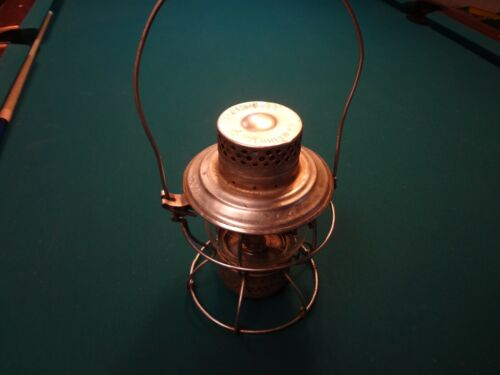 GA RR RAILROAD LANTERN BY HANDLAN OF ST. LOUIS W/BRASS BURNER BASE