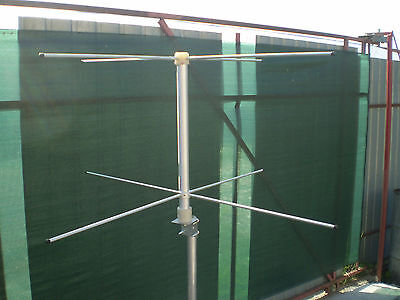 Base  antenna turnstile crossed dipole 137 Mhz RHCP NOAA ORBCOMM METEOR  BNC