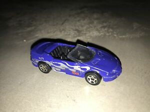 Hot wheels blue camaro convertible