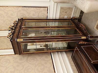 Escaparate Cristal Armario Salón 2türige Vitrinas Barroco Rococo de Nuevo