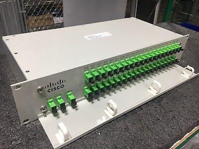 New CISCO 40 Channel MUX/DEMUX 4000698 40:1 19IN SC/APC ITU 20-59 2RU ONS 15216